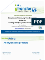 Changing Transfer Systems Using the LTSI