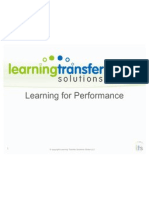 Learning for Performance