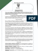 RESOLUCION 671 CALENDARIO ACAD