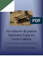 UN ENTIERRO DE PATRON FUNERARIO LIMA EN CERRO CULEBRA