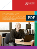 Postgraduate School of Economics 2012 Handbook