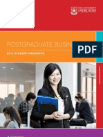 Postgraduate Business School 2012 Handbook