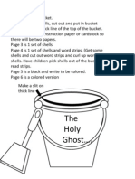 The Holy Ghost Shell Bucket Activity