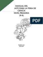 Manual Del Estudiante Para La Feria de Ciencias
