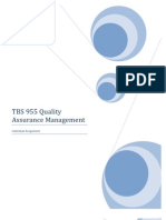 TBS 955 Quality Assurance Management