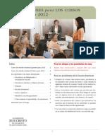 Instrucciones Para Los Cursos de Estudio 2012