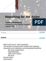 Leslie J. Rosenberg- Searching for the Axion