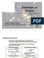 Leslie J. Rosenberg- Detection of Axions