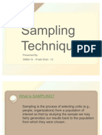 Project - Sampling Techniques