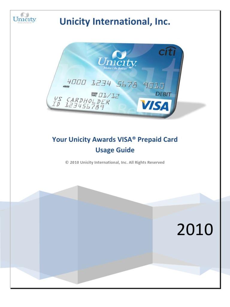 unicity awards guide | debit card | automated teller machine