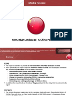 MNC R&D Ecosystem in China