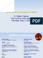R. Walter Ogburn- Current results and prospects of CDMS-II