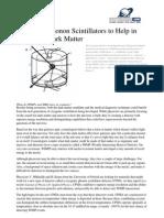 Lisa Zyga- Cryogenic Phonon Scintillators to Help in Search for Dark Matter