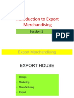 Session 1a Export Merchandising