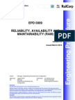 Reliability Availability and Maintain Ability (RAM)