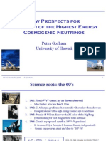 Peter Gorham- New Prospects for Detection of the Highest Energy Cosmogenic Neutrinos