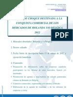 CONVOCATORIA ACCIÓN DE CHOQUE MERCADOS HOLANDA BÉLGICA 2012 - SECTOR CALZADO