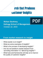 687699 Market Research Customer Insight