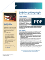 Best in Class Lead Generation for Public Sector Solution Providers
