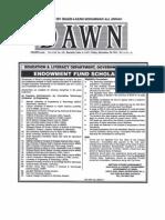 Sindh Endowment Scholarship