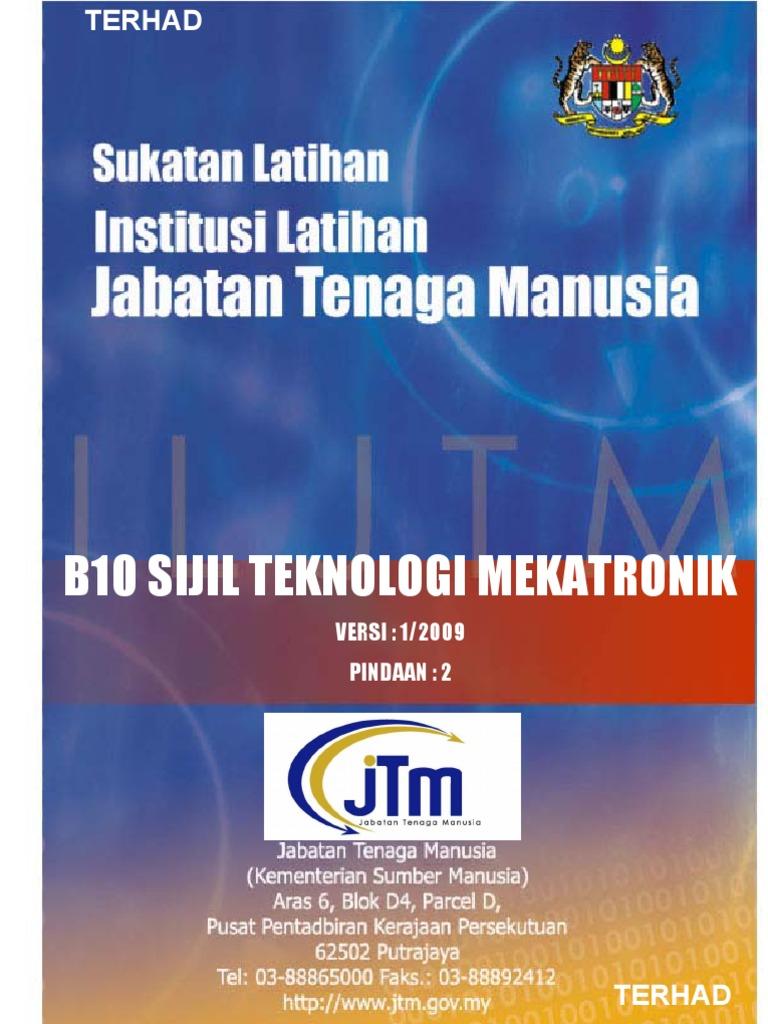 Silibus Teknologi Mekatronik B10 Pindaan 2 Update Jun 2009