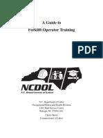 #12 Forklift Operation Guide