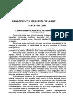 Managementul Resurselor Umane - Suport de Curs