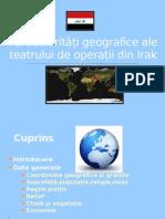 Particularități geografice ale teatrului de operații din Irak