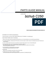 Konica Minolta - Parts Manual Bizhub C250