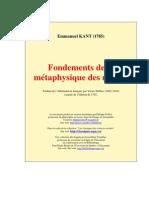 Fondements de La Mtaphysique Des Moeurs_ - Emmanuel Kant (1785)