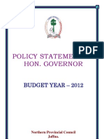 Policy Statement - 2012