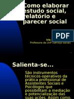 Como Elaborar Estudo, Parecer e Relatorio Social