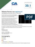 Website Review - Aquinox