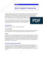 Better Computer Presentations