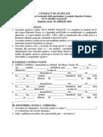 Contract de Societate Civila Particular A 2009