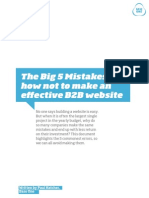 Big 5 B2B Website Mistakes