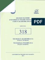 Sm Uny 2011 Tes Bakat Akademk+Bahasa Inggris