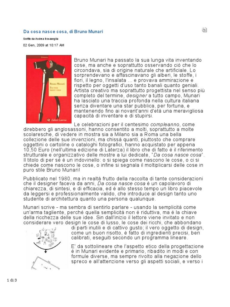 munari da cosa nasce  Da Cosa Nasce Cosa - Bruno Munari