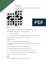 British and American Culture Crossword