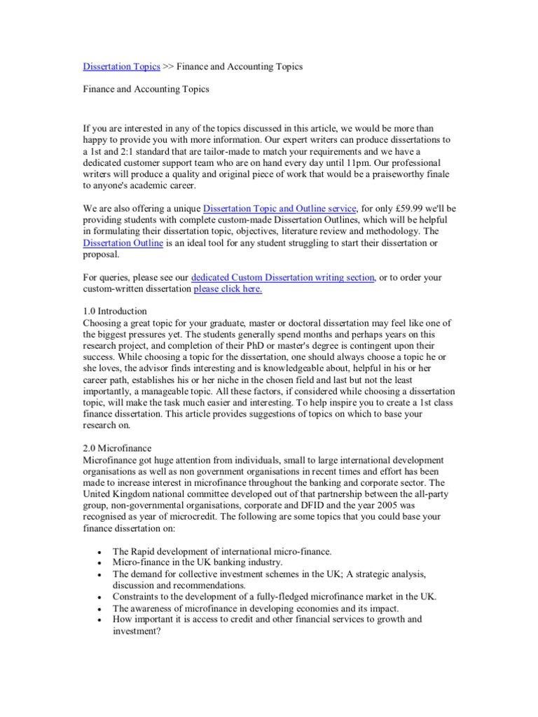 customer service dissertation topics