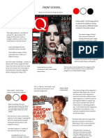 Magazine Cover, Double Spread and Contents