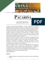 Política Editorial de la RLPCSyH