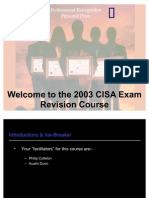 The CISA Course Presentation 2003 v2