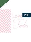 Valentine Love Me Tender Print-Pale Pink