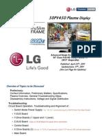 Lg 50pv450 - Training Manual