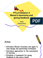 Bloom, Questions and Assessment