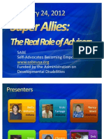 Self-Advocates Becoming Empowered Webinar with Autism NOW January 24, 2011