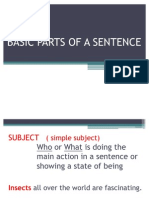Basic Parts of a Sentence PPT