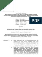 Peraturan Bersama 5 Menteri_Penataan Dan Pemerataan Guru PNS