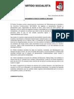 Pronunciamiento del PS sobre el MOVADEF